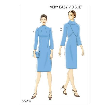 Sleeve Funnel Neck Jacket - Vogue Patterns Sewing Pattern MISSES' LINED RAGLAN-SLEEVE JACKET AND FUNNEL-NECK DRESS-14-16-18-20-22