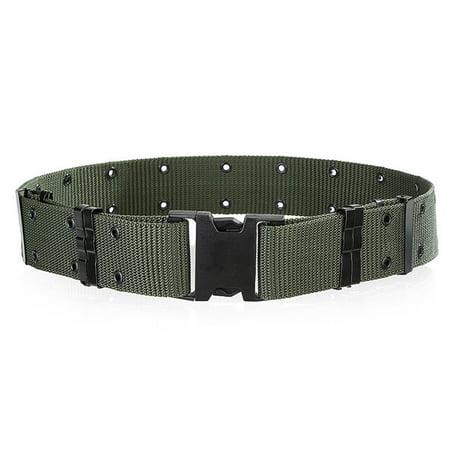 Men's Outdoor Sports Military Tactical Nylon Waistband Canvas Web Belt Dazzling (Military Nylon Web Belt)