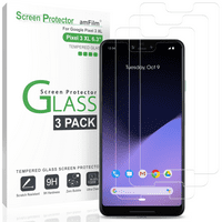 amFilm Pixel 3 XL Screen Protector Glass, Case Friendly Tempered Glass Screen Protector for Google Pixel 3 XL (3 Pack)