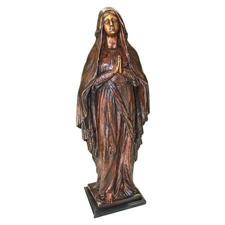 Madonna, Blessed Mother Cast Bronze Garden Statue Madonna Garden Statue