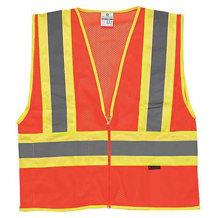 ML KISHIGO High Visibility Vest,Class 2,XL,Orange 1055-XL