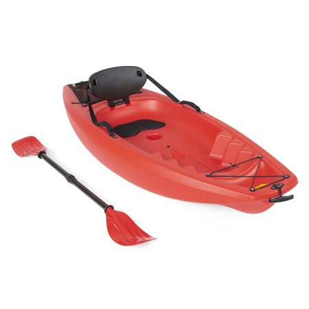 Best Choice Products 6ft Kids Kayak w/ Paddle, Cushioned Backrest, Side Handles, Storage Compartment, Wheel for River, Lake, Beach - (Best Kayak Pfd Reviews)