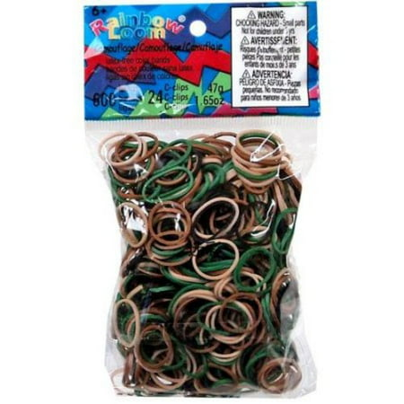 Rainbow Loom Camo Rubber Bands with 24 C-Clips (600 Count)](Rubber Band Looms)