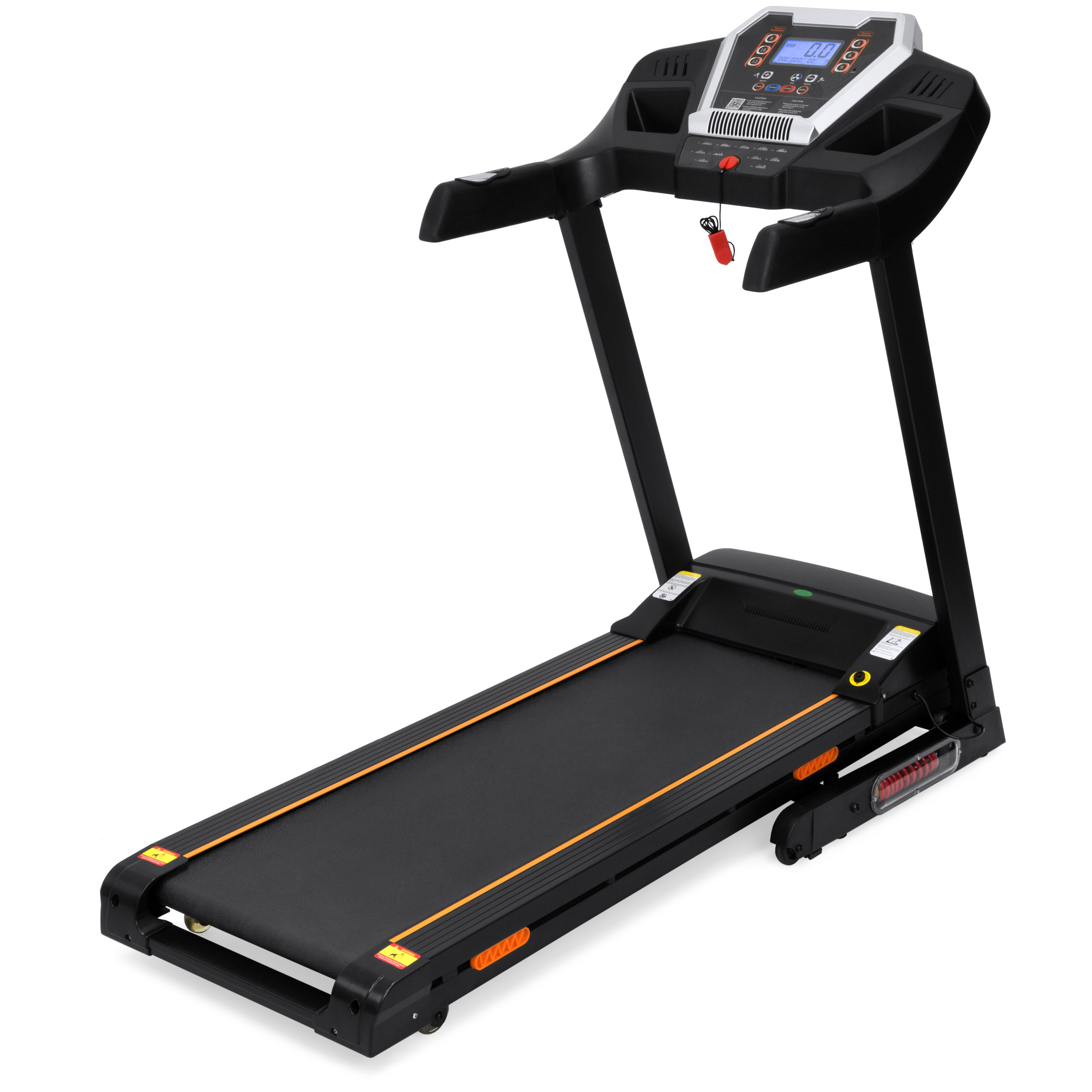Best Choice Products 900W Folding Electric Bluetooth App-Control Treadmill w/ Incline, History Tracker, Speakers - Black