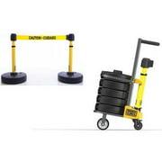 BANNER STAKES PL4002 PLUS Barricade,Yellow,Caution - Cuidado