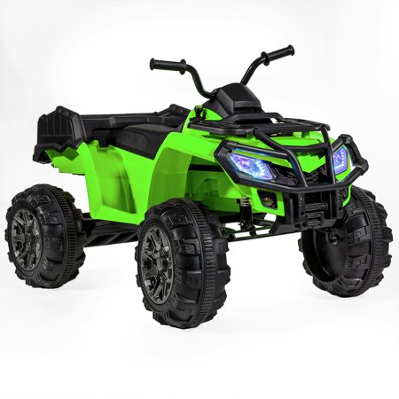 12V Battery Powered Kids Ride-On ATV Quad Monster W/MP3 (L) --GREEN