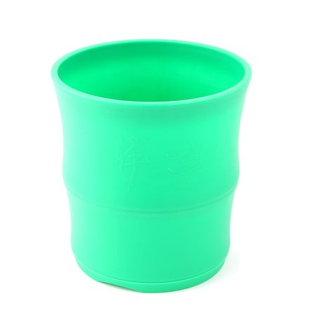Family Balcony Plastic Round Flower Aloes Plant Pot Holder Container Green