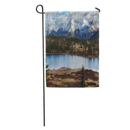 SIDONKU Range Mountain Landscape in Colorado Rocky United States Hiking Winter Garden Flag Decorative Flag House Banner 12x18 inch ()