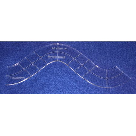 """Quilting Template - Border Braid- 1/4"""" Clear Acrylic"""