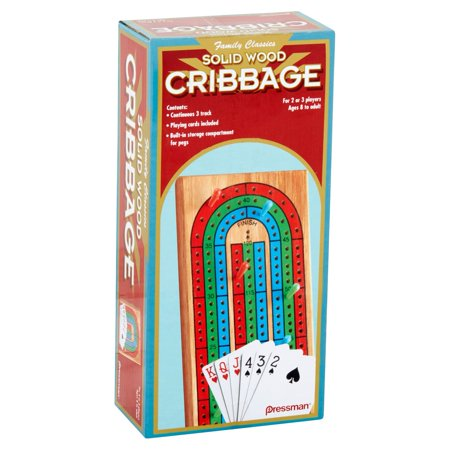 Wood Cribbage Game - Ages 8+ (Folding Cribbage Board)