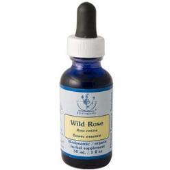 Wild Rose Herbal Supplement Dropper By Flower Essence - 1