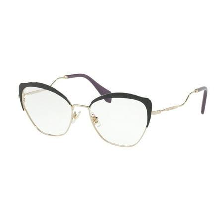Eyeglasses Miu MU 54 PV 1AB1O1 BLACK/PALE (Miu Miu Optical Frames)