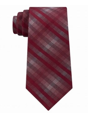 Kenneth Cole Reaction Mens Grid Tie (Heather Ombre Check)