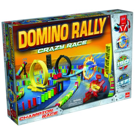 Domino Rally Crazy Race — Dominoes for Kids, STEM-based Learning Set - High School Rally Games