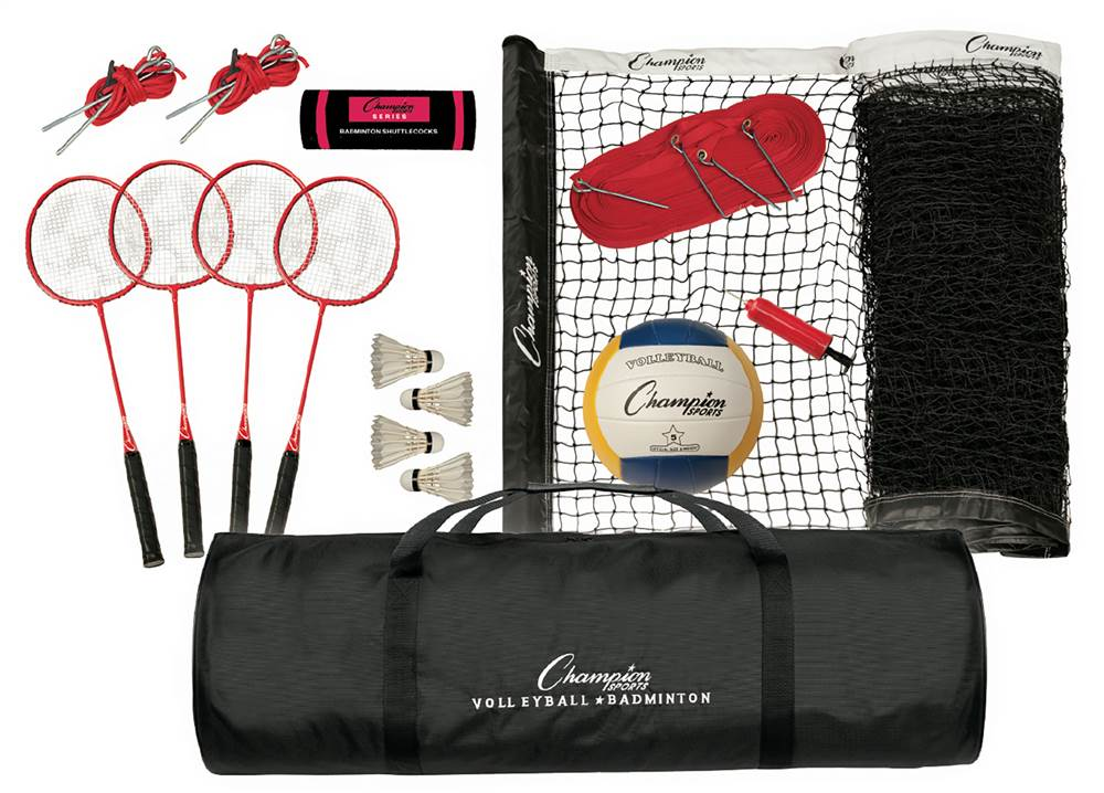 Tournament Series Volleyball and Badminton Set by Champion Sports