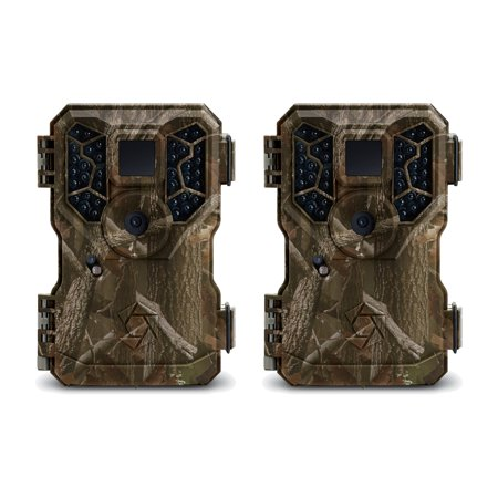 Stealth Cam 8MP No Glo IR Infrared Game Trail Hunting Cameras (2 Pack) | (Tasco 8mp Tan Game Camera Low Glow)