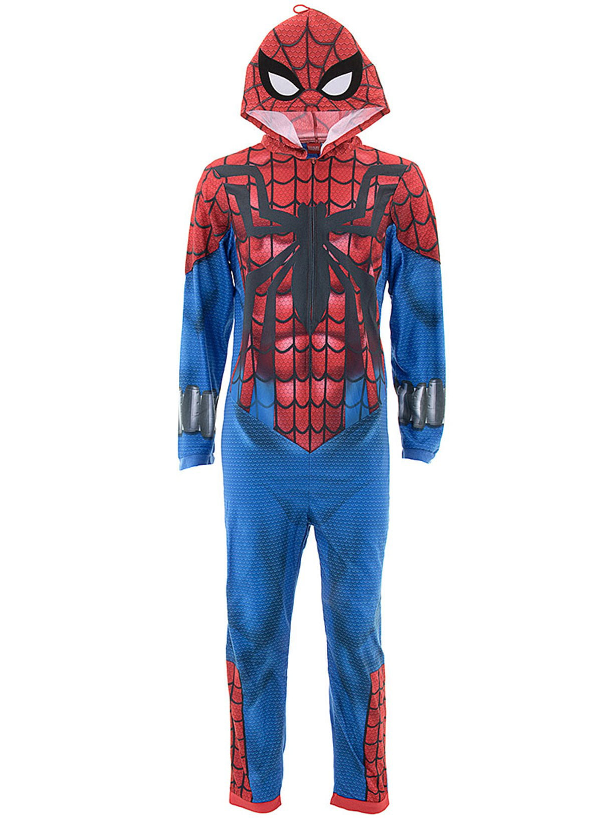 7f23f0f6702a Briefly Stated - Marvel Adult Spider-man Hooded Union Suit Pajamas ...
