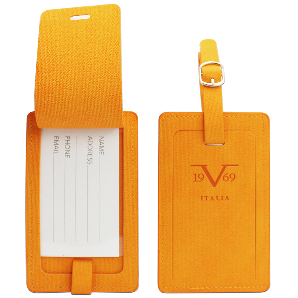 V19.69 Italia by Alessandro Versace Luggage Tags / Card Holder - Set of 2 (Orange)