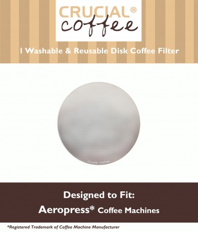 Stainless Steel Washable Crucial Coffee Filter, Fits Aerobie AeroPress by Crucial Vacuum