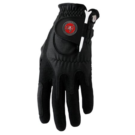 Tampa Bay Buccaneers Left Hand Golf Glove & Ball Marker Set - Black - OSFM