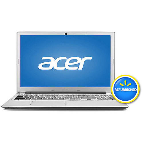 """Acer Refurbished Silky Silver 15.6"""" V5-551-8401 Laptop PC with AMD Quad-Core A8-4555M Processor and Windows 8 Operating System"""