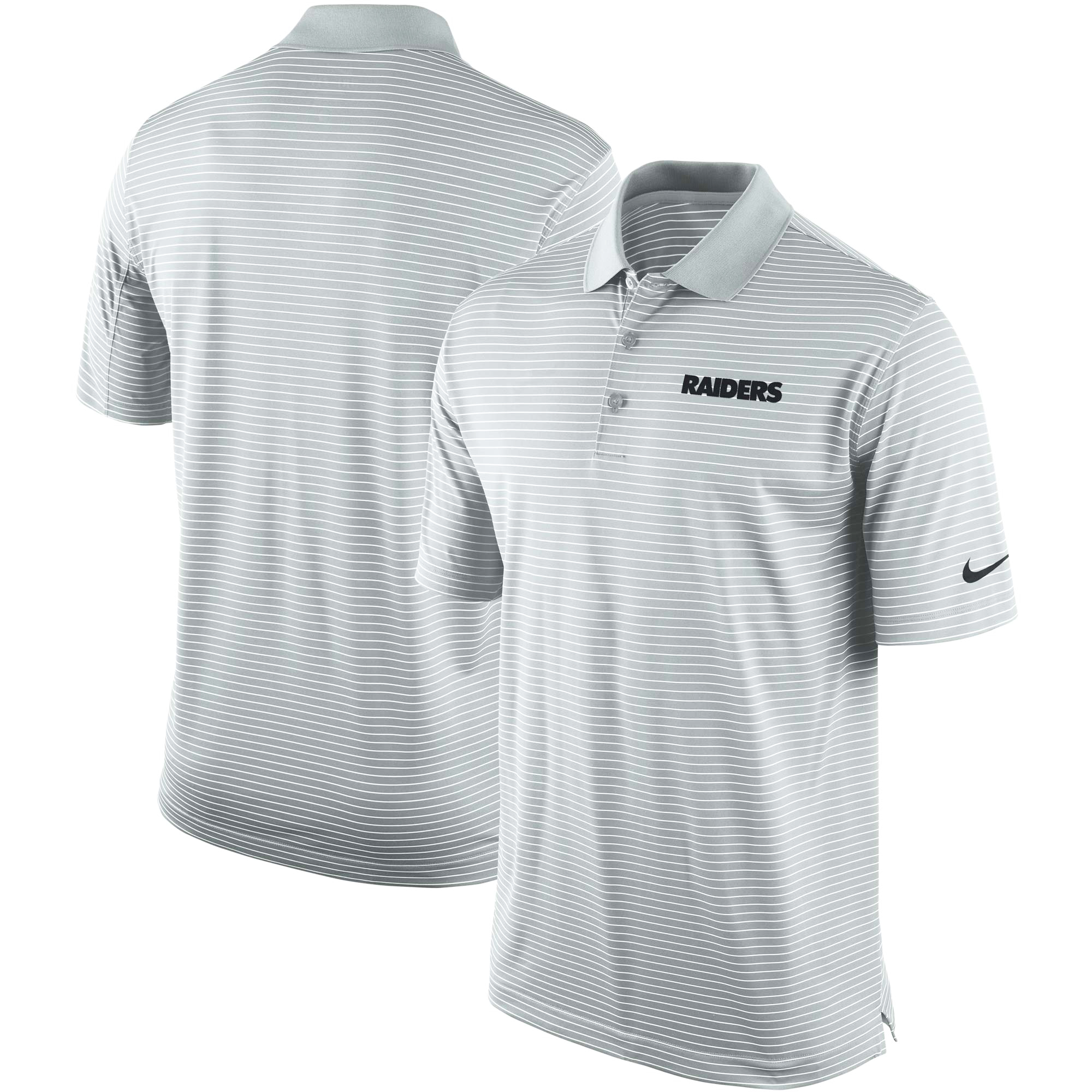 Oakland Raiders Nike Team Stadium Performance Polo - Gray