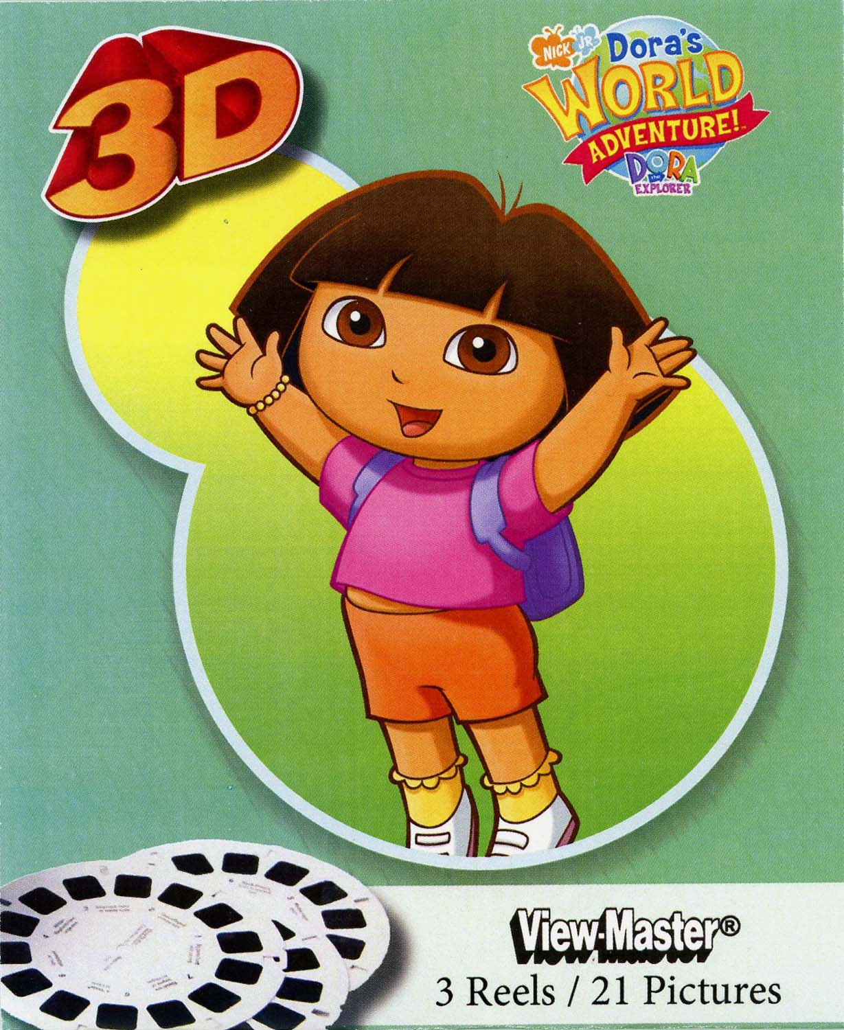 Dora II Dora's World Adventure Classic ViewMaster 3 Reel 213D IMages by ViewMaster
