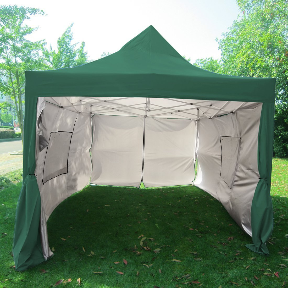 Big Sale!!Quictent privacy Pyramid-roofed 10'x15' Mesh Cu...