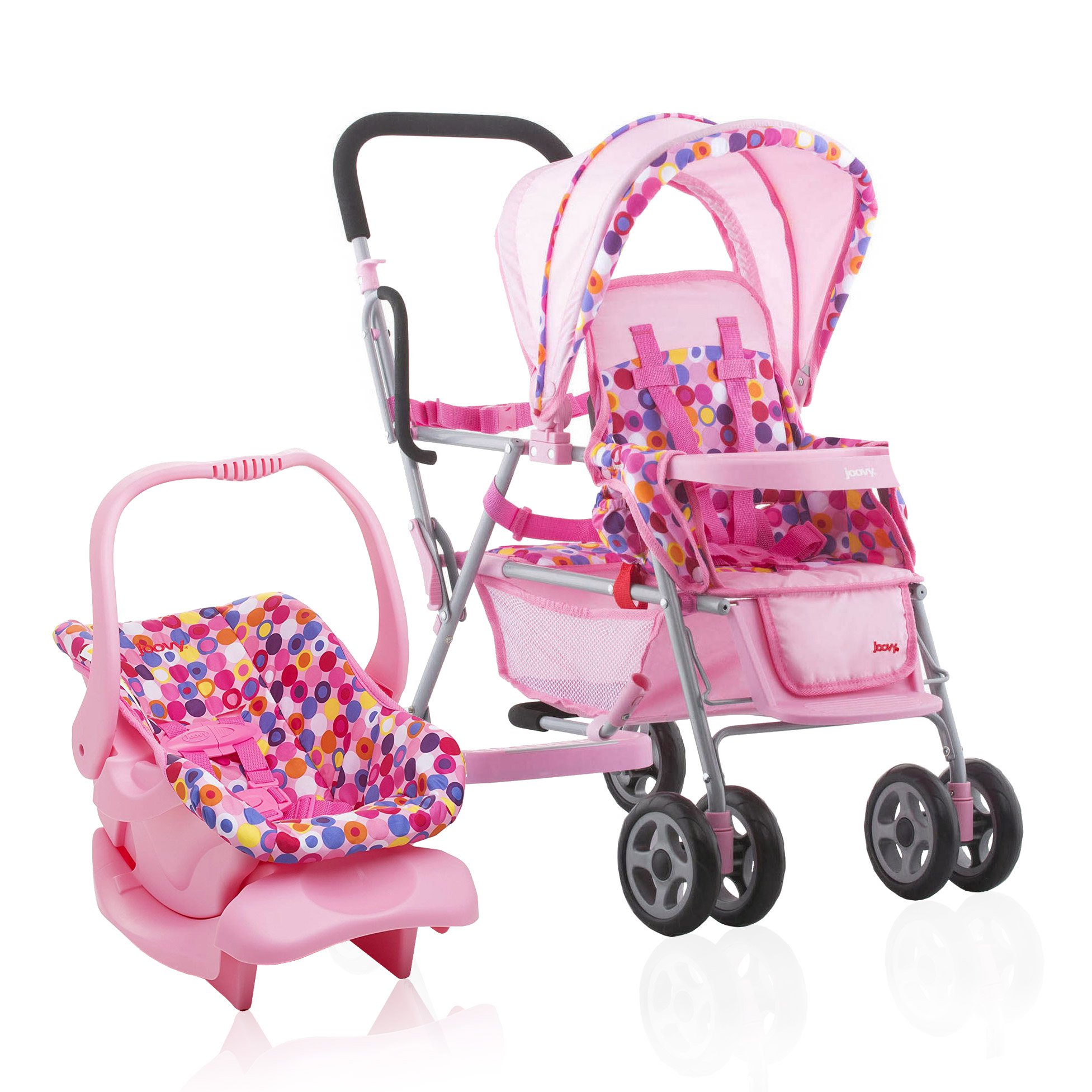 Joovy Toy 3 Doll Caboose Pretend Play Children Stroller ...