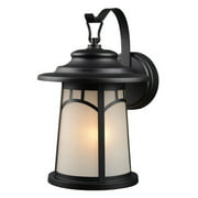 Hardware House Single Light Outdoor Lantern with Frosted Glass - Finish: Textured Black
