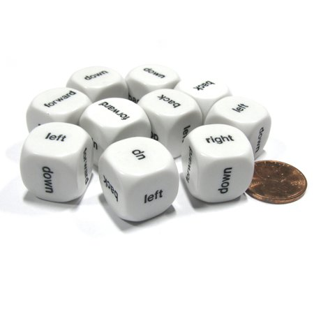 Koplow Games Set of 10 D6 Six-Sided 16mm Directional -left right up down forward back - Dice #18014](The Left Right Game For Halloween)