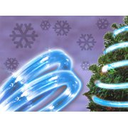 12' Vibrant Blue Flat Wide LED Indoor/Outdoor Christmas Rope Light