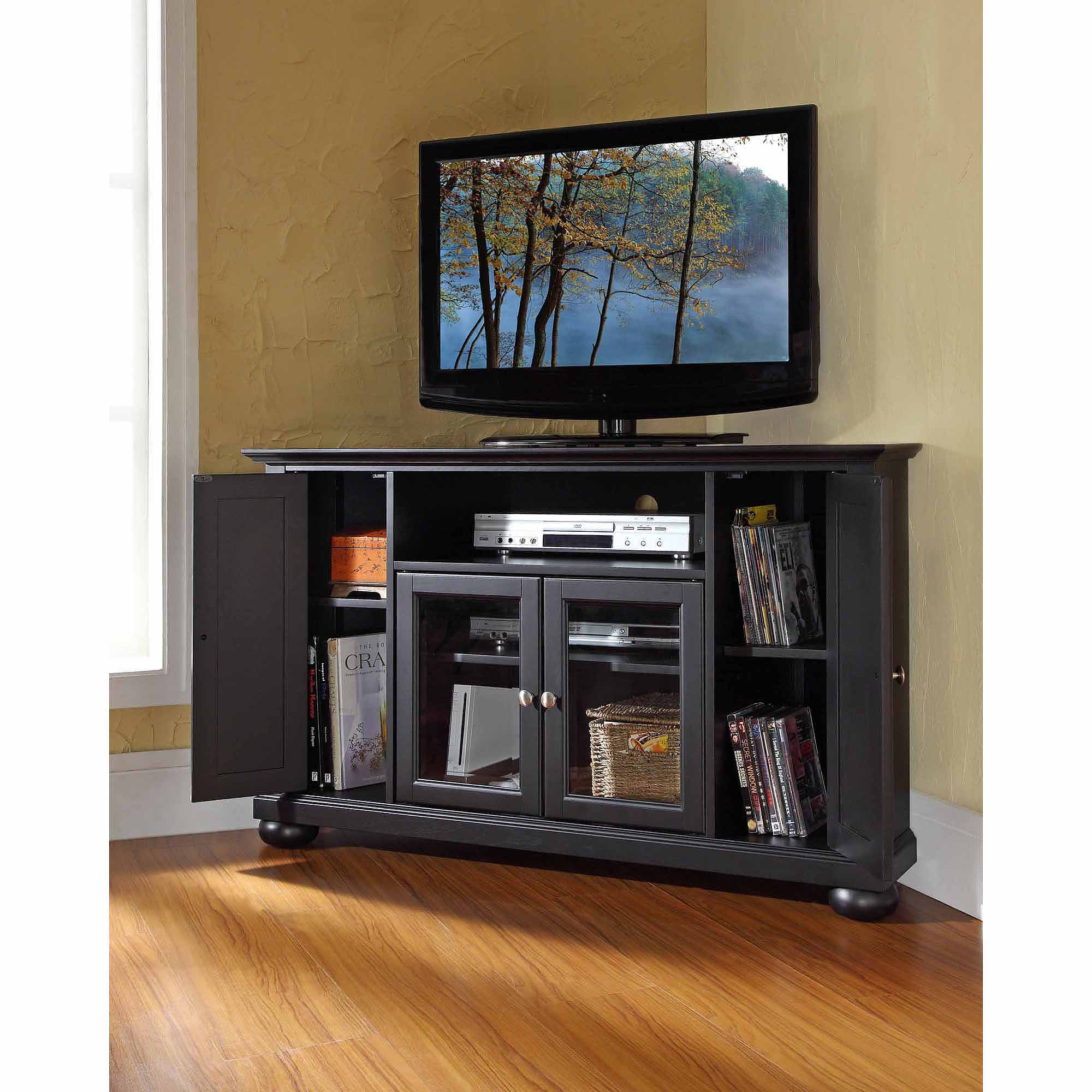 Crosley Furniture Alexandria Corner TV Stand For TVs Up To 48  Ba Stands For