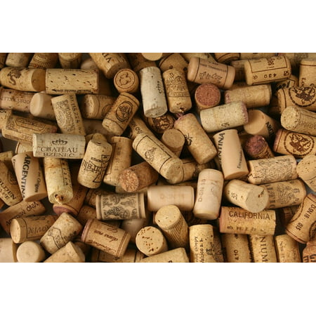 Premium Recycled Corks, Natural Wine Corks From Around the World - 50 Count