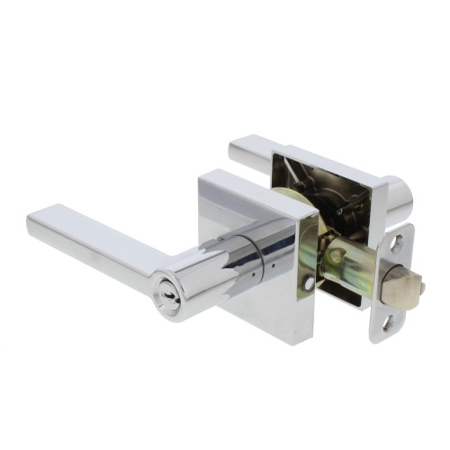 Ultra Security Freehold Flat Bar Door Lever Polished Chrome