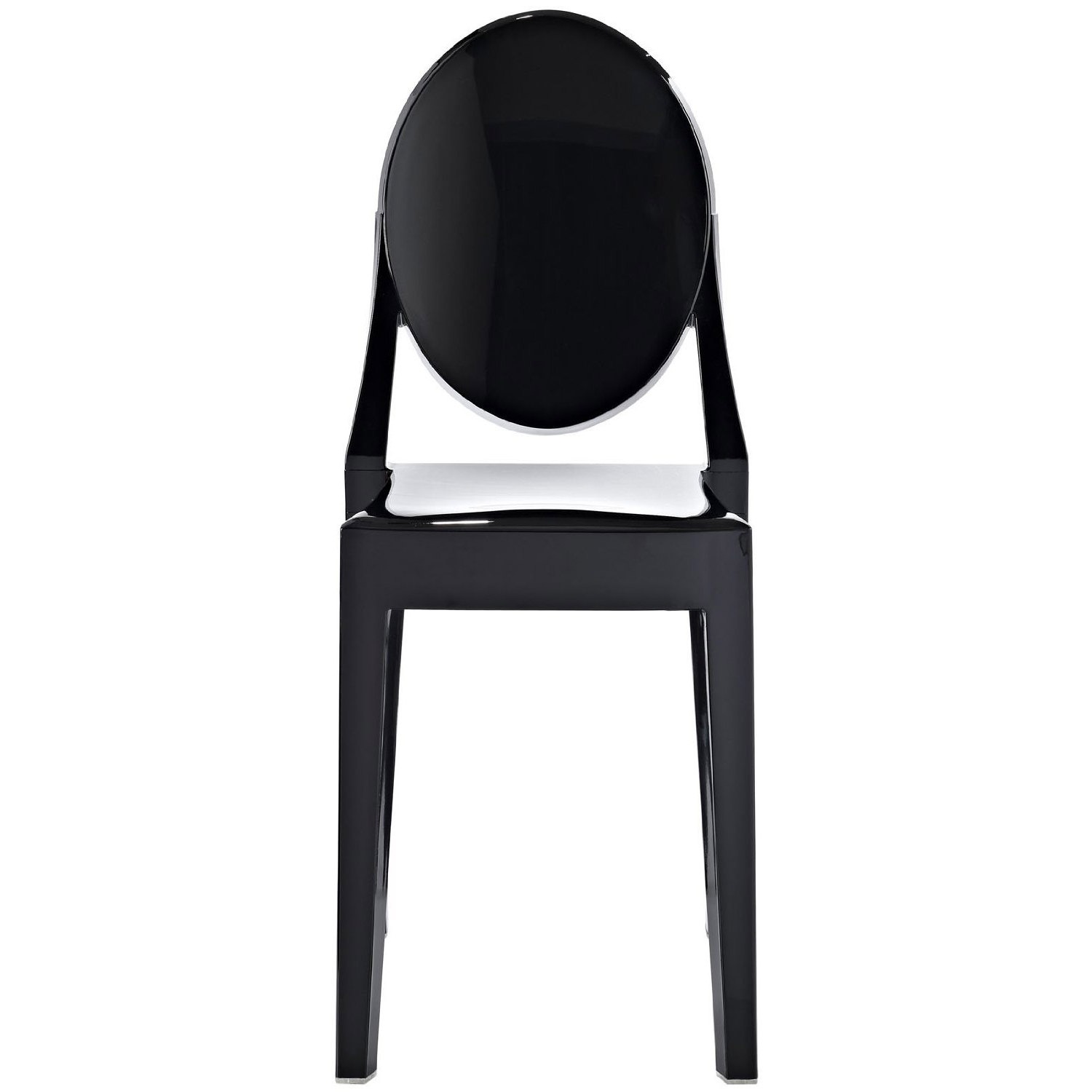2xhome   Modern Plastic Chairs No Arm Armless For Stackable Dining Chairs  Black