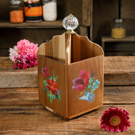 The Pioneer Woman Spring Bouquet 4-Section Utensil Holder