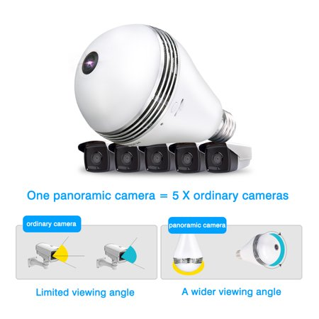 Light Bulb Camera Vr Panoramic Ip Wireless Wifi Camera