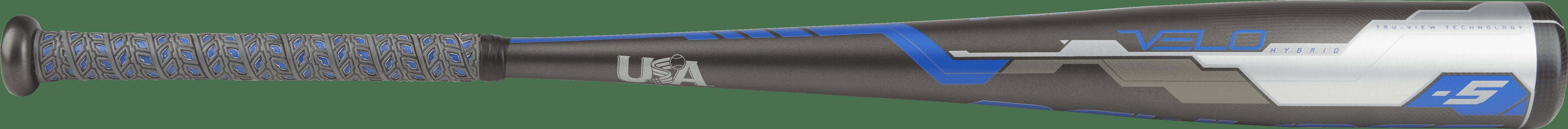 Rawlings Velo Hybrid USA Baseball Bat, 2-5 8-Inch Big Barrel, 31-Inch Length, -5 Drop Weight, 26 Ounces by Rawlings