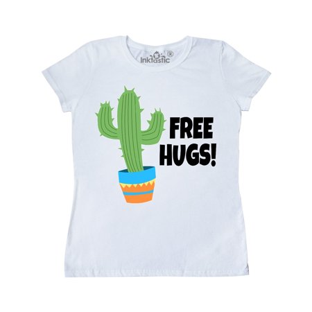 Free Hugs with Cactus Plant Women's T-Shirt