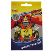 Party Favors Mickey Mouse Roadsters Jumbo Card Game - 3PK