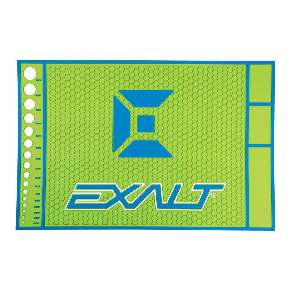 Exalt Paintball HD Rubber Tech Mat Lime   Blue by Exalt
