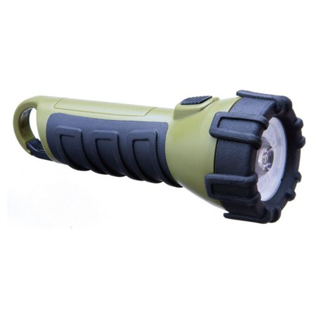 Dorcy 100 Lumen LED Floating Waterproof Flashlight with Carabiner Clip, Tri-Color Red, Green and White