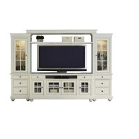 "Bowery Hill 110"" Entertainment Center in Linen"