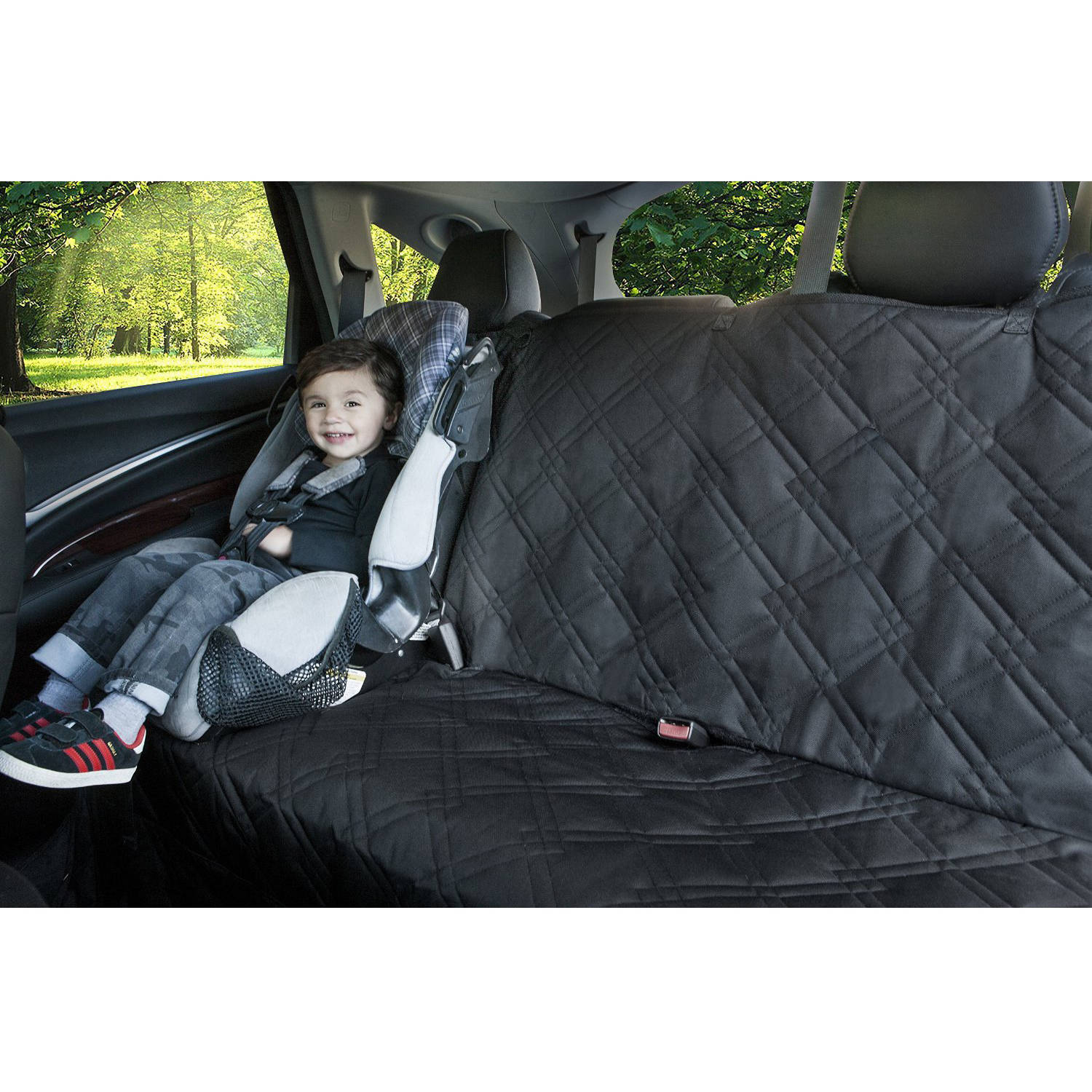 Rumbi Baby Bench Seat Protector For Infant Carseats, Black