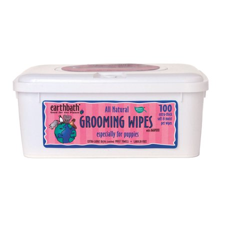 Grooming Wipes - Earthbath All Natural Puppy Grooming Wipes, 100 Wipes