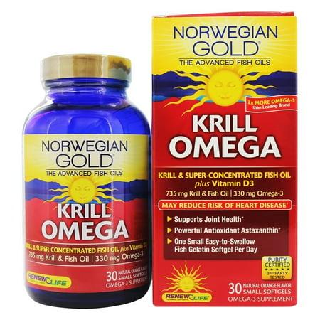 Renew Life   Norwegian Gold Krill Omega Natural Orange   30 Softgels