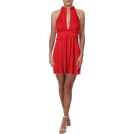 Max Studio Womens Pleated A-Line Cocktail Dress