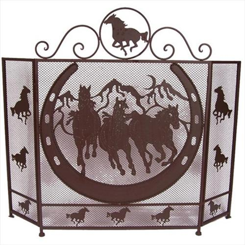DeLeon Collections 21264 Metal Horse Fire Screen
