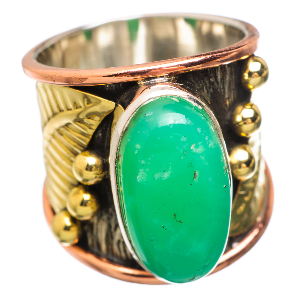 Ana Silver Co Chrysoprase 925 Sterling Silver Ring Size 6 Handmade Jewelry RING833589 by Ana Silver Co.